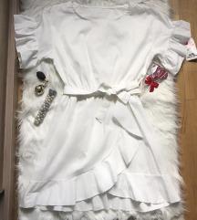Bela haljina sa karnerima NOVA sa et