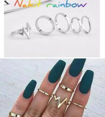 Set od 5 prstenčića