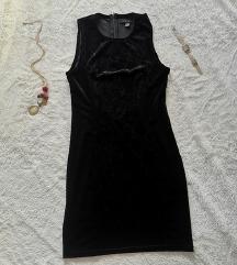 NOVA kratka, tegljiva haljina od pliša