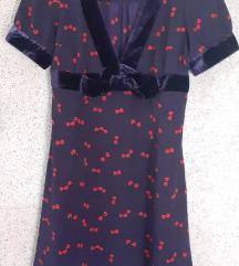 H&M haljina sa visnjama vel M NOVO