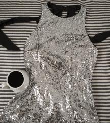 Rezz Koton haljina od srebrne krljusti, vel. M