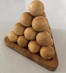 Piramida edukativna slagalica (drvene kuglice)