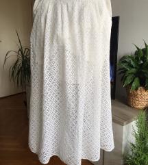Divna bela suknja - pamučna čipka