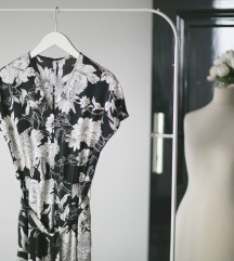 Crno- beli HM kombinezon u floralnom printu