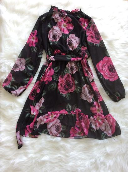 Crna cvetna haljina