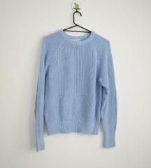 H&M svetlo plavi džemper NOVO