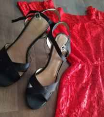 Crne elegantne sandale