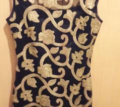 haljina sa zlatnim strasom