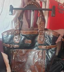 Kozna torba braon crna 600