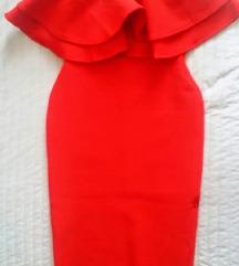 Crvena herve haljina