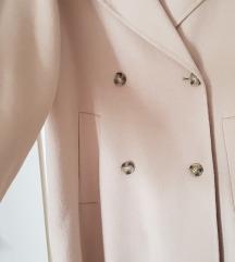 Zara krem bez limited vuneni kaput