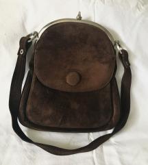 Vintage torba velur koža