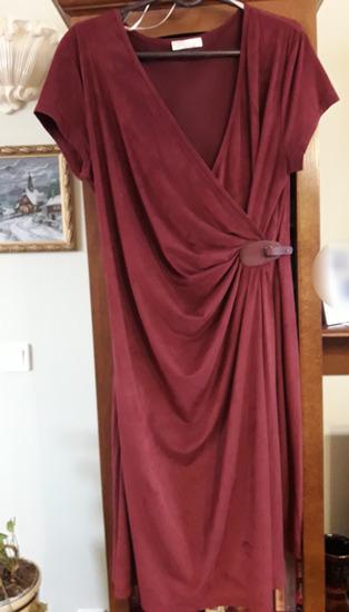 PROMOD bordo haljina divnog kroja kao nova