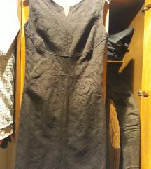 Mala crna haljina od brokata