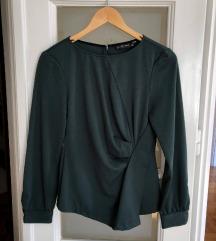 Zara tamno zelena bluza