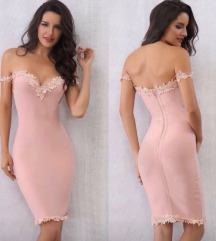 Herve Leger roze haljina M ,L