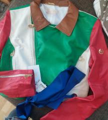 Kozna jakna sa etiketom