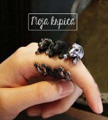 Unisex punk kuca prsten