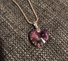 Ogrlica sa Swarovski kristalom NOVO