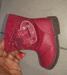 Kozne postavljene cizme br19,ug 13cm