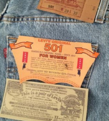 LEVIS 501 USA  original farmerke