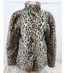 Animal print kratka bunda vel. S/M