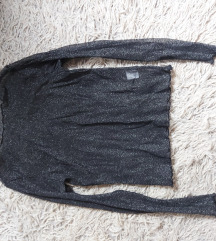 Brandy Melville providna crna srebrna bluza