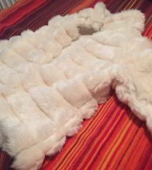 Nova krem/bela bunda