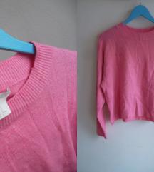 H&M oversized pink dzemperak, M/L