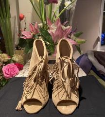 MOROBE NOVE skupocene sandale sa resama 36