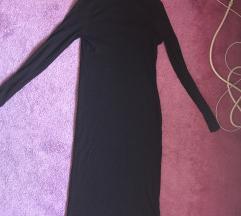 H&M divided crna uska haljina ispod kolena
