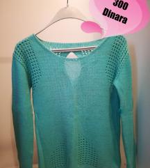 Mint zeleni džemperić-bluza