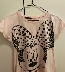 Prljavo roza Minnie pamučna majica