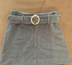 ZARA plava suknjica