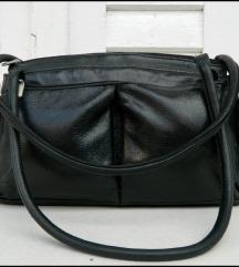 Crna kožna torba Mona
