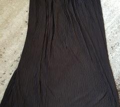 Plisirana midi suknja crna