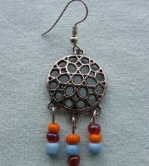 Unikatne ručno rađene minđuše - šarene perlice