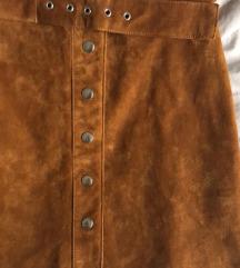 Kozna suknja Zara - NOVO
