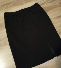 Orsay crna suknja sa dubokim slicem