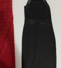 Amisu crna uska prelepa haljinica XS
