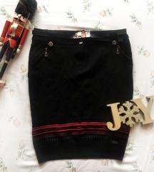 NORM crna mini zimska suknja