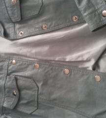 Kozna jakna tirkiz plava M