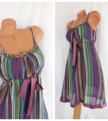 JUST ADDICT ♛ krep haljina ukrašenog dekoltea