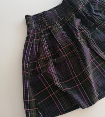 Karirana H&M schoolgirl suknjica L