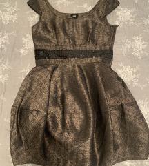 Zlatna haljinica S, H&M