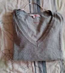 Sivi klasičan džemper