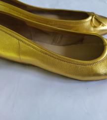 Zlatne kožne baletanke br. 40