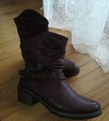 Bordo kratke čizme