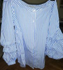 Prugasta neobična baggy košulja