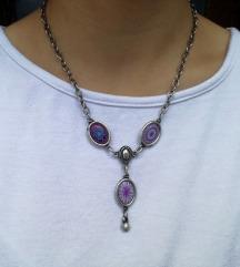Unikatna posrebrena ogrlica - novo